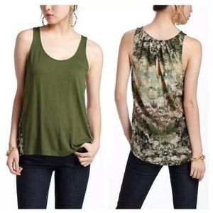 Anthropologie Tops - ANTHROPOLOGIE DELETTA AERIAL TERRA GREEN TOP SZ S